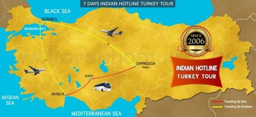 7 DAY INDIAN HOTLINE TURKEY TOUR