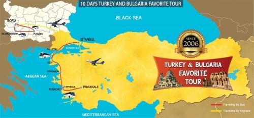 10 DAY TURKEY AND BULGARIA FAVORITE TOUR