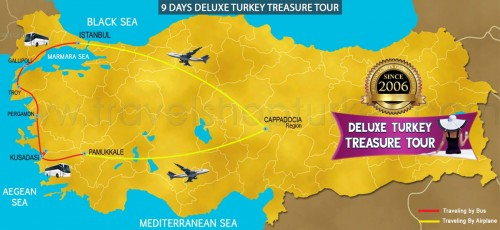 9 DAY DELUXE TURKEY TREASURE TOUR