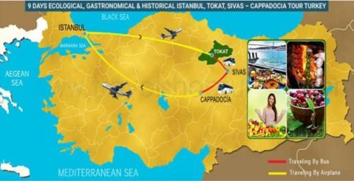 9 DAY ECOLOGICAL, GASTRONOMICAL - HISTORICAL ISTANBUL, TOKAT, SIVAS – CAPPADOCIA TOUR TURKEY