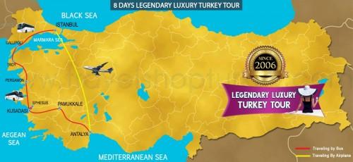 8 DAY LEGENDARY LUXURY TURKEY TOUR