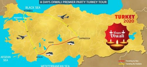 8 DAY  DIWALI PREMIER PARTY TURKEY TOUR
