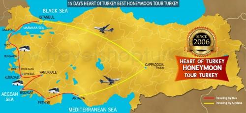 15 DAY HEART OF TURKEY BEST HONEYMOON TOUR