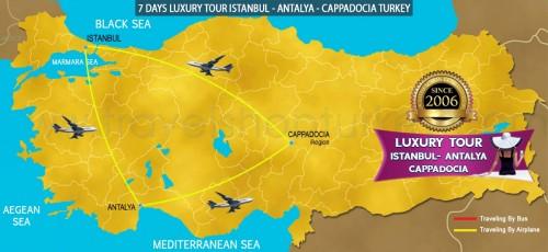 7 DAY LUXURY ISTANBUL - ANTALYA - CAPPADOCIA TURKEY TOUR