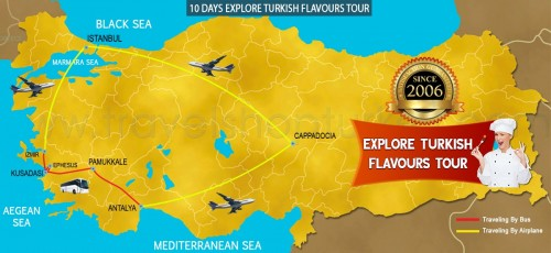 10 DAY EXPLORE TURKISH FLAVOURS TOUR