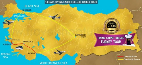 14 DAY FLYING CARPET DELUXE TURKEY TOUR