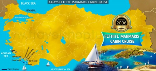 4 DAY FETHIYE TO MARMARIS CABIN CRUISE