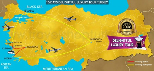 10 DAY DELIGHTFUL LUXURY TOUR TURKEY