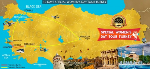 10 DAYS SPECIAL WOMEN'S DAY TURKEY TOUR