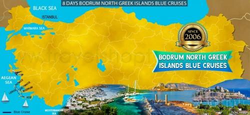 8 DAY BODRUM NORTH GREEK ISLANDS BLUE CRUISES
