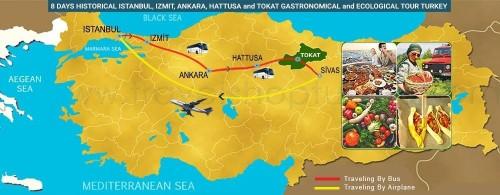 8 DAY HISTORICAL ISTANBUL, IZMIT, ANKARA, HATTUSA AND TOKAT GASTRONOMICAL - ECOLOGICAL TOUR TURKEY