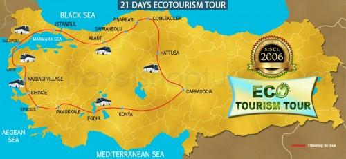 21 DAY ECOTOURISM TOUR TURKEY
