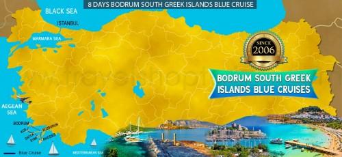 8 DAY BODRUM SOUTH GREEK ISLANDS BLUE CRUISE