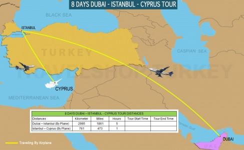 8 DAY DUBAI - ISTANBUL - CYPRUS COMBINATION TOUR