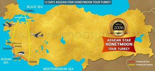 12 DAY AEGEAN STAR HONEYMOON TOUR TURKEY