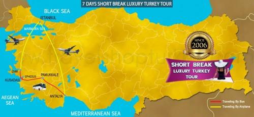7 DAY SHORT BREAK LUXURY TURKEY TOUR