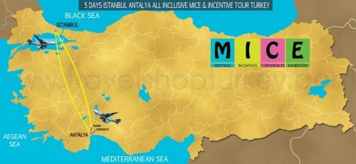 5 DAY ISTANBUL - ANTALYA ALL INCLUSIVE M.I.C.E TOUR TURKEY (2020-2021-2022)