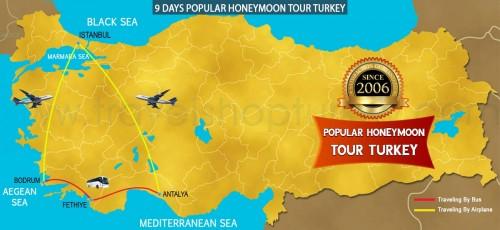 9 DAY POPULAR HONEYMOON TOUR TURKEY