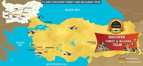 15 DAY DISCOVER TURKEY AND BULGARIA TOUR