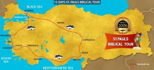 15 DAY ST. PAULS BIBLICAL TOUR TURKEY