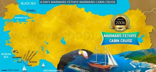 8 DAY MARMARIS FETHIYE MARMARIS CABIN CRUISE