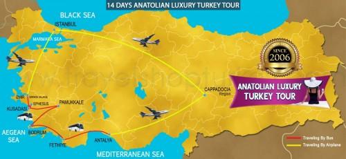 14 DAY ANATOLIAN LUXURY TURKEY TOUR