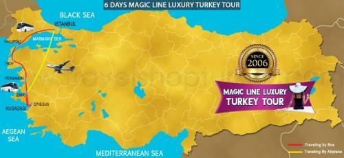 6 DAY MAGIC LINE LUXURY TURKEY TOUR