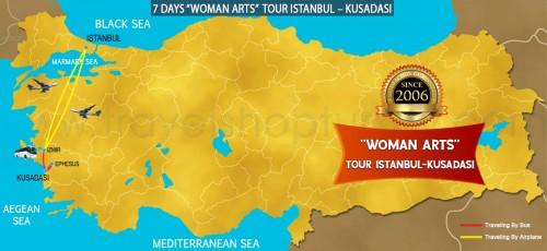 """7 DAY """"WOMAN ARTS"""" TOUR ISTANBUL – KUSADASI TOUR"""