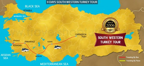 9 DAY SOUTH WESTERN TURKEY TOUR