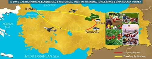 10 DAY GASTRONOMICAL, ECOLOGICAL - HISTORICAL TOUR TO ISTANBUL, TOKAT, SIVAS - CAPPADOCIA TURKEY