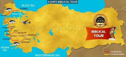 9 DAY BIBLICAL TOUR TURKEY