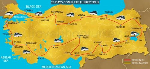 28 DAY COMPLETE TURKEY TOUR