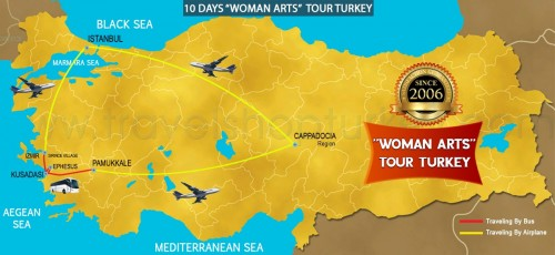 "10 DAY ""WOMAN ARTS"" TOUR TURKEY"