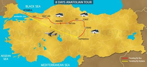 8 DAY ANATOLIAN ASIAN SPECIAL TOUR