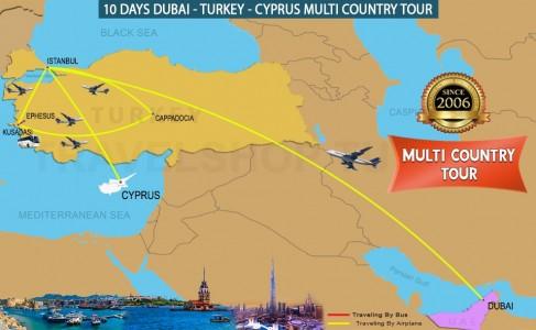 10 DAY DUBAI - TURKEY - NORTH CYPRUS MULTI COUNTRY TOUR