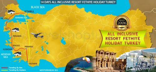 14 DAY ALL INCLUSIVE RESORT FETHIYE HOLIDAY TURKEY