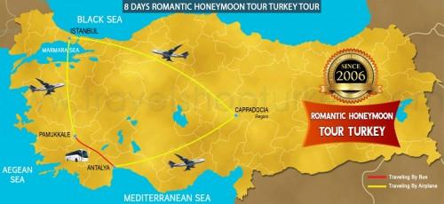 8 DAY ROMANTIC HONEYMOON TURKEY TOUR