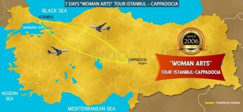 "7 DAY ACCESSIBLE  ""WOMEN ARTS"" TOUR ISTANBUL – CAPPADOCIA TOUR"