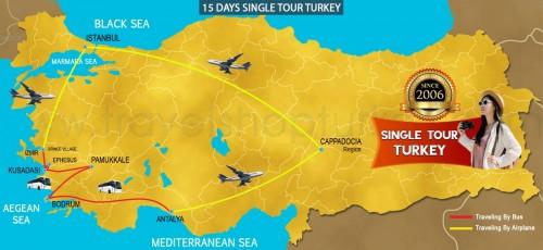 15 DAY SINGLE TURKEY TOUR