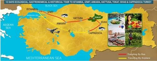 12 DAY ECOLOGICAL, GASTRONOMICAL & HISTORICAL TOUR TO ISTANBUL, IZMIT, ANKARA, HATTUSA, TOKAT, SIVAS & CAPPADOCIA TURKEY